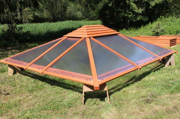 a completed roof assembly