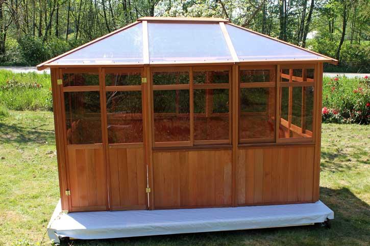 Solarus gazebo on a wood deck