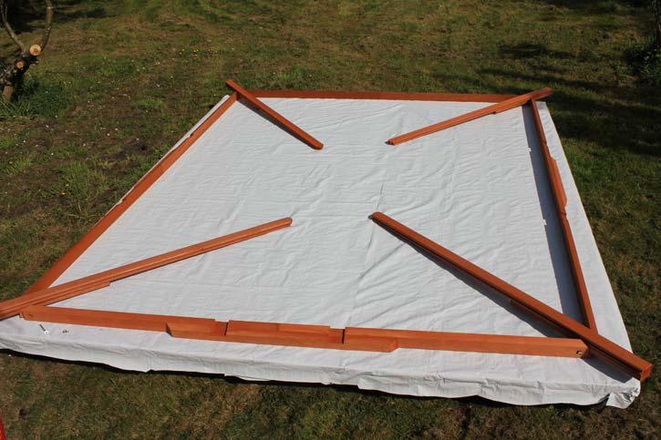 gazebo roof header assembly