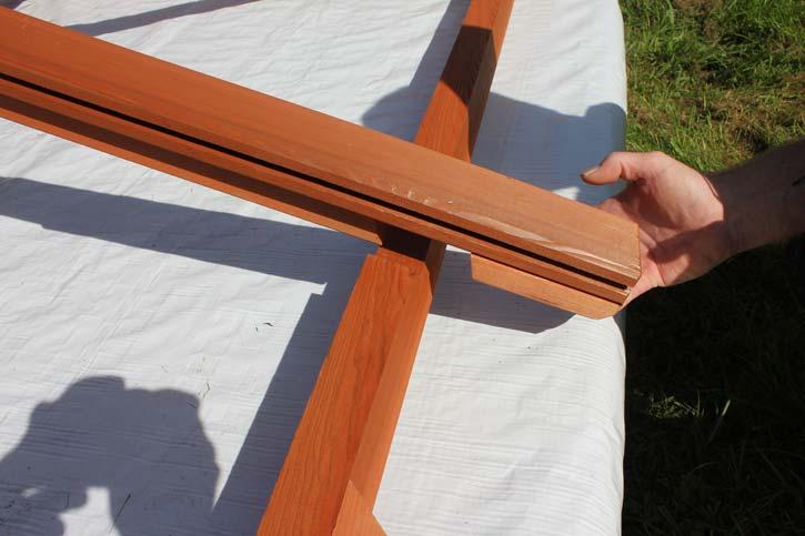 installing gazebo roof rafters