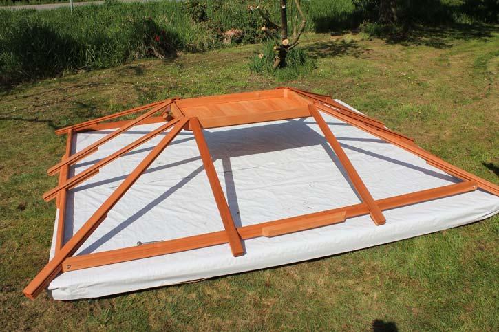 a gazebo roof assembly