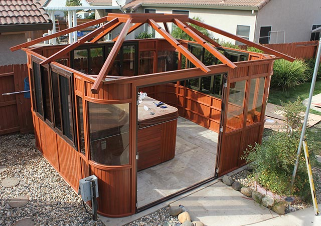 aspen gazebo roof assembly