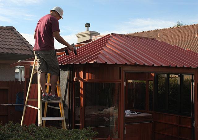 aspen gazebo roof installation