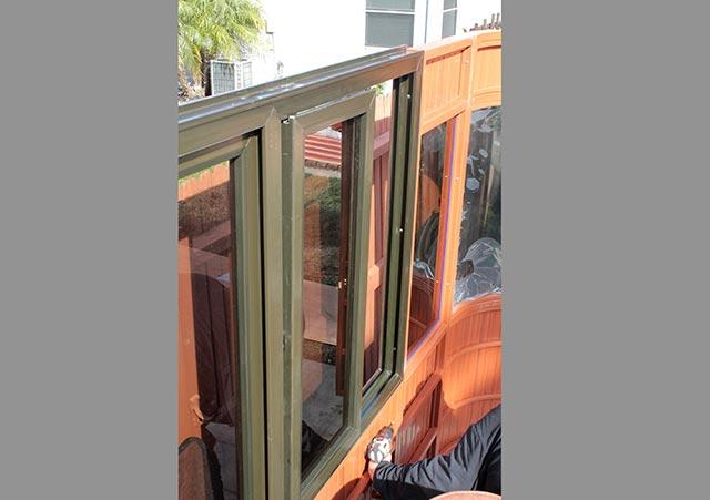 Aspen gazebo window installation