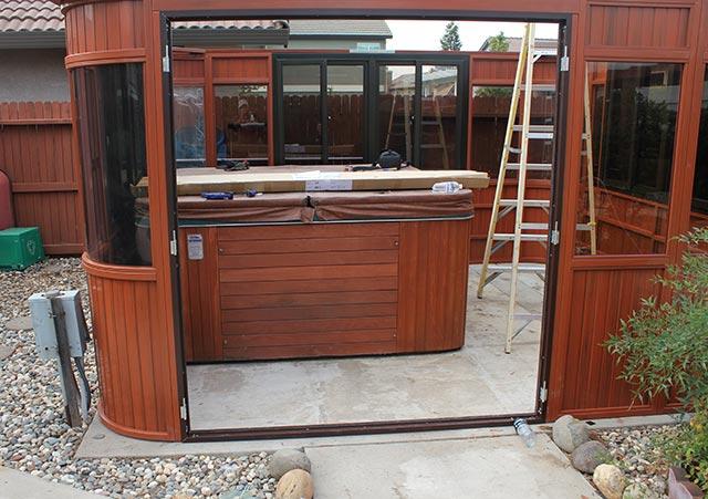 Aspen gazebo door assembly