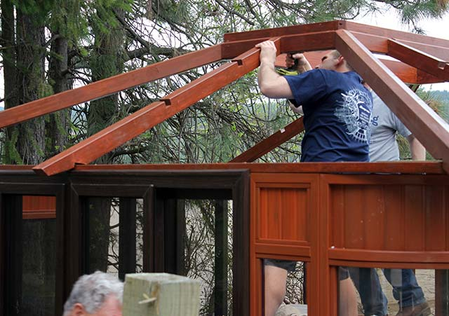 Aspen gazebo roof assembly