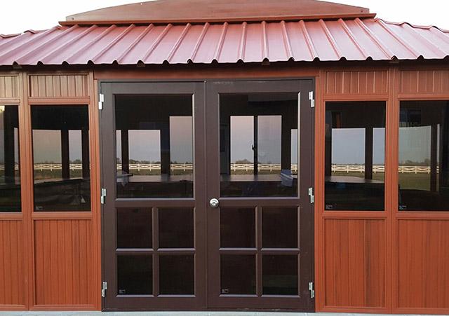 Aspen gazebo front door