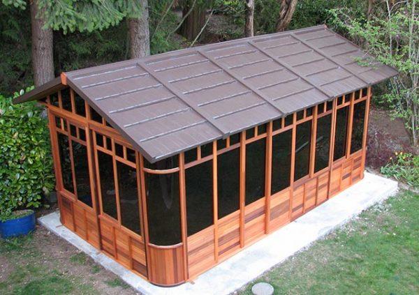 Chalet 10x18 gazebo roof view