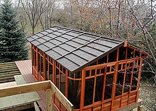 chalet gazebo roof view