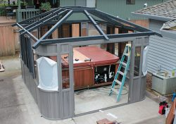 gazebo roof installation