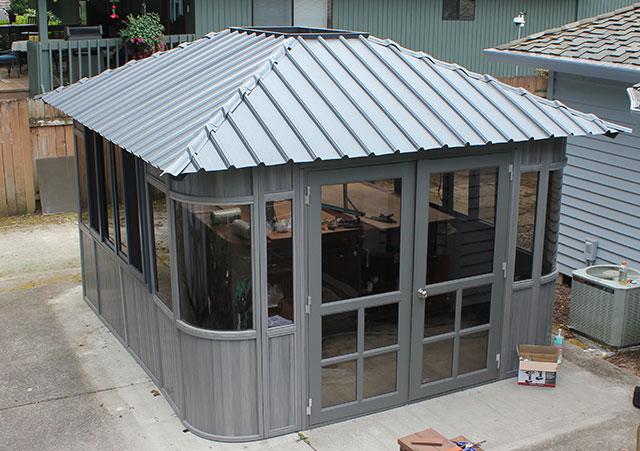 gazebo roof installation