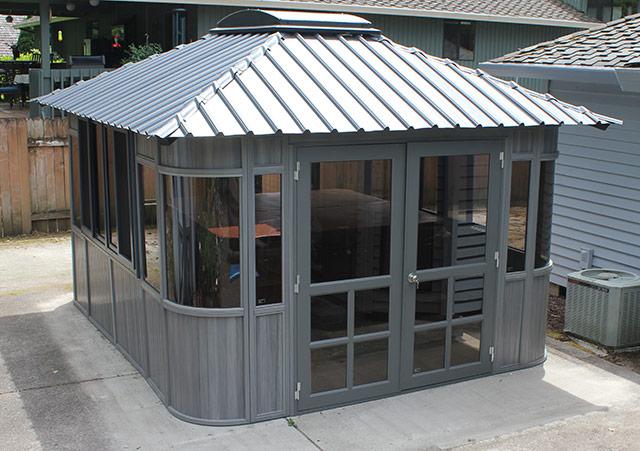 a Colorado hot tub enclosure