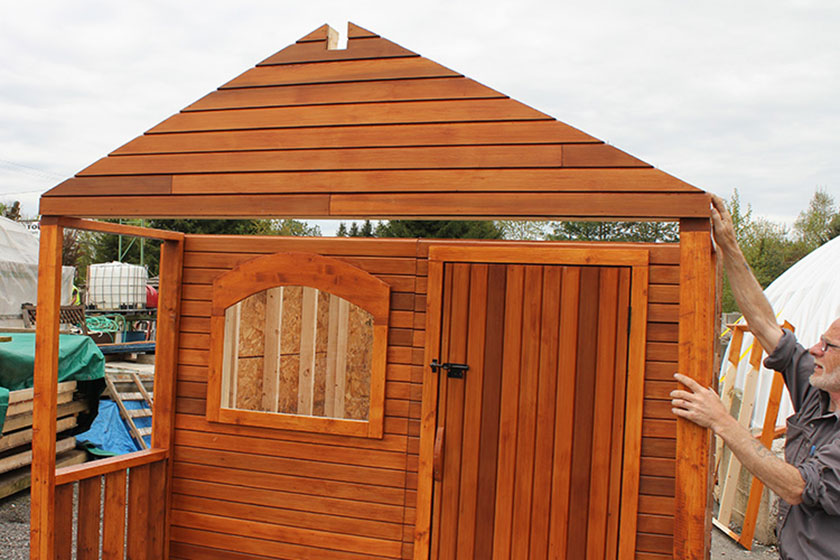 Aligning Front Gable - Spa Gazebo|Hot Tub Enclosure - Westview Manufacturing