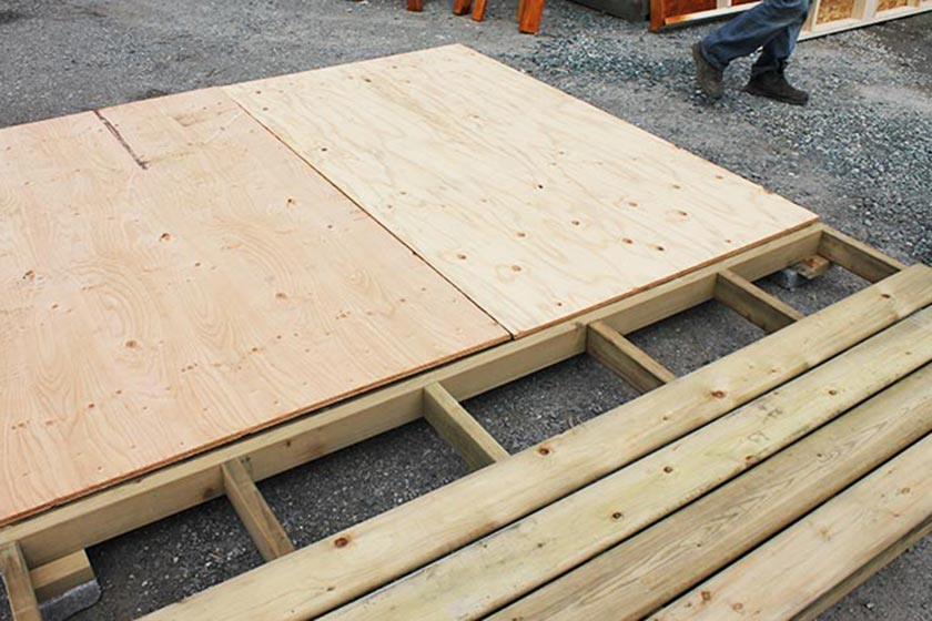 Attaching Plywood Sheets To The Floor - Spa Gazebo|Hot Tub Enclosure - Westview Manufacturing