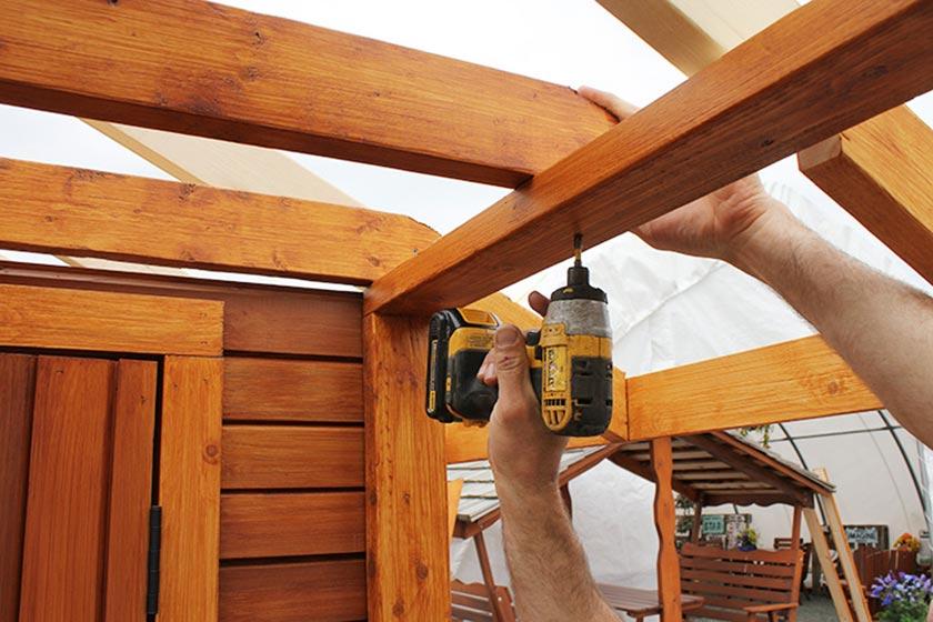 Attaching Porch Rafter Bar - Spa Gazebo|Hot Tub Enclosure - Westview Manufacturing