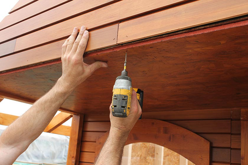 Attaching Porch Ceiling Plywood - Spa Gazebo|Hot Tub Enclosure - Westview Manufacturing