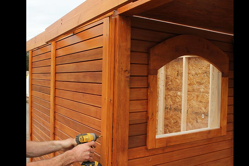 Attaching Left And Right Trim Pieces - Spa Gazebo|Hot Tub Enclosure - Westview Manufacturing