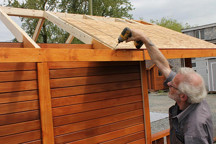 Attaching Roof Plywood - Spa Gazebo|Hot Tub Enclosure - Westview Manufacturing