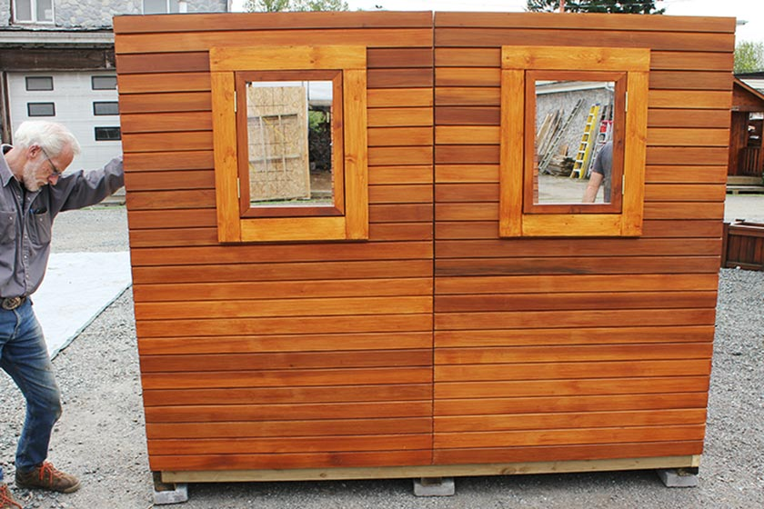 Aligning Back Walls - Spa Gazebo|Hot Tub Enclosure - Westview Manufacturing