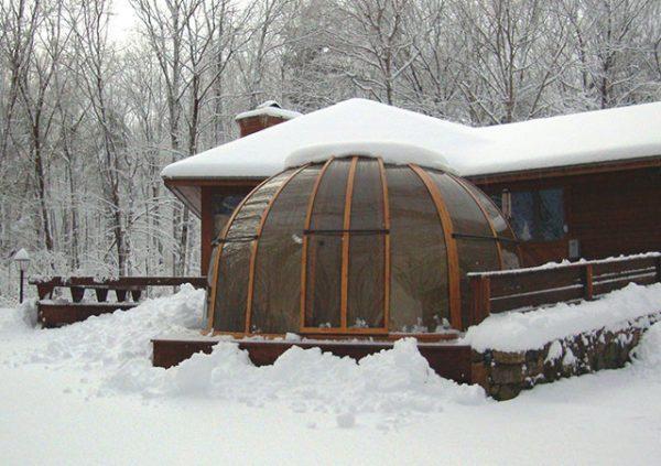Orlando conservatorium with snow