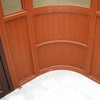 Aspen gazebo inside corner