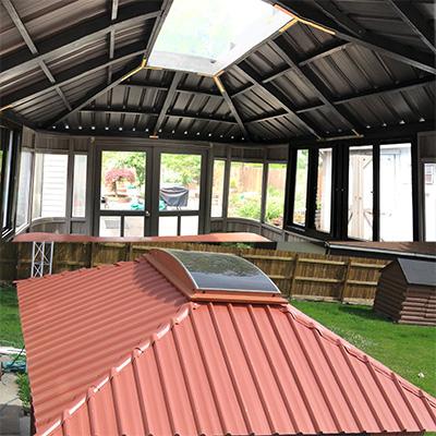 gazebo skylight inside and outside