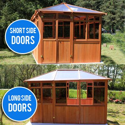 gazebo door options