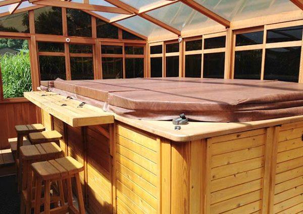 Solchalet gazebo from inside