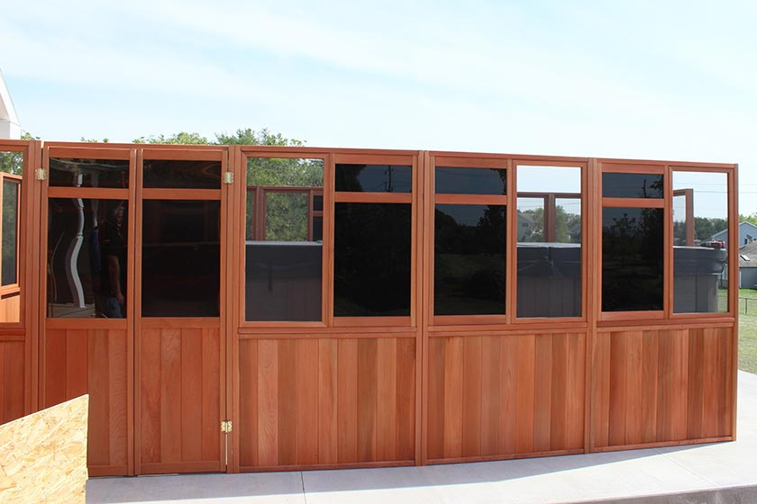Door And Walls Attached - Spa Gazebo Hot Tub Enclosure - Westview Manufacturing