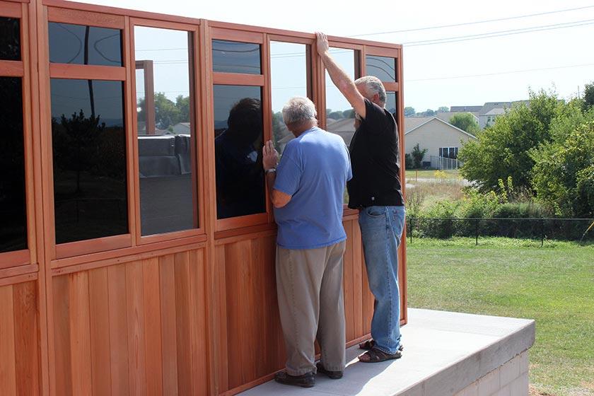 Installing Window Walls - Spa Gazebo|Hot Tub Enclosure - Westview Manufacturing