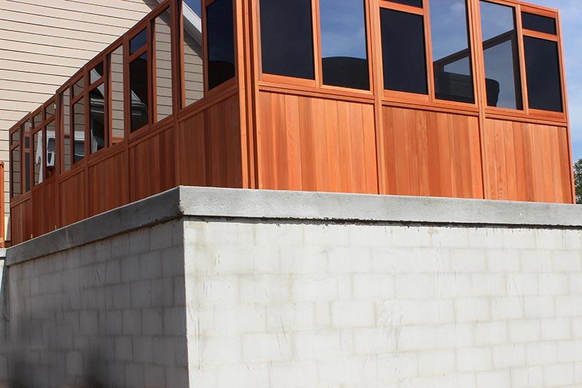 3 Window Walls Attached - Spa Gazebo Hot Tub Enclosure - Westview Manufacturing