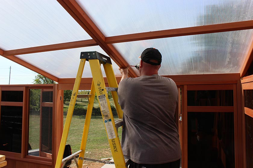 Continuously Attaching Roof Panel - Spa Gazebo|Hot Tub Enclosure - Westview Manufacturing