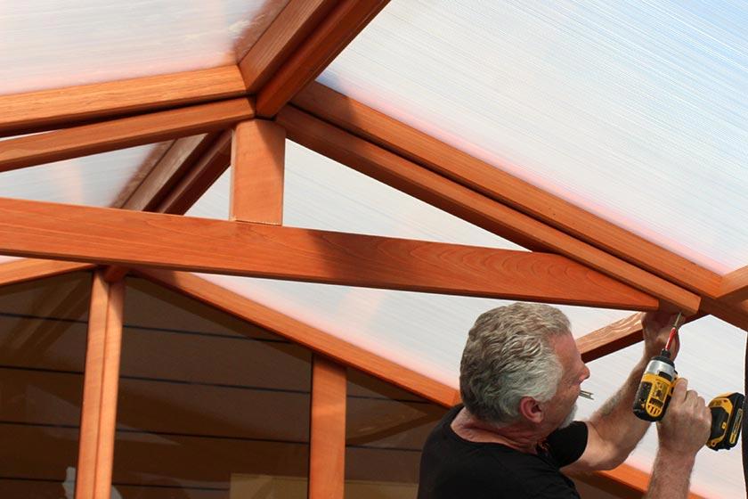 Attaching A Truss - Spa Gazebo|Hot Tub Enclosure - Westview Manufacturing