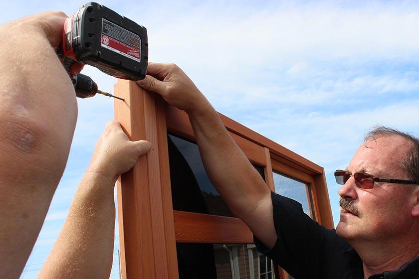 Constructing Gazebo BodyAttaching Window Wall From A 90° Corner - Spa Gazebo|Hot Tub Enclosure - Westview Manufacturing