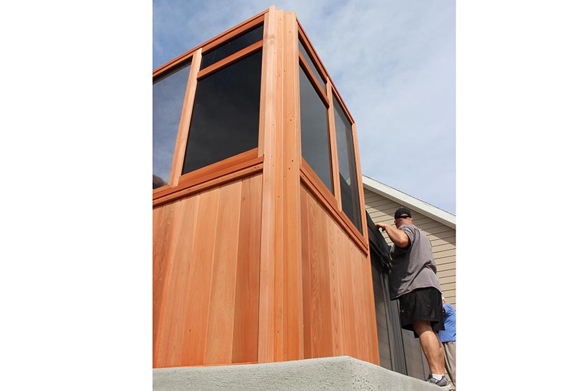 Attaching Window Wall From A 90° Corner - Spa Gazebo|Hot Tub Enclosure - Westview Manufacturing
