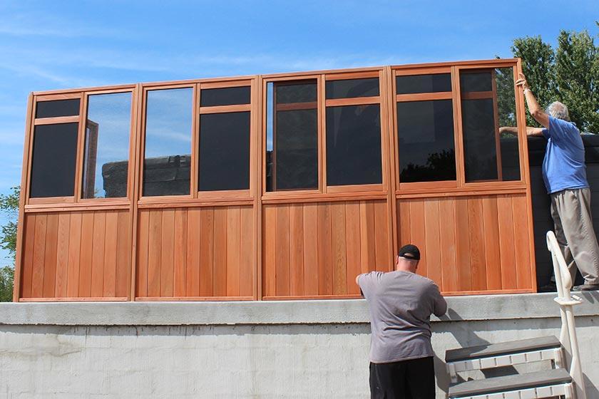Constructing The Long Side Of The Gazebo - Spa Gazebo Hot Tub Enclosure - Westview Manufacturing