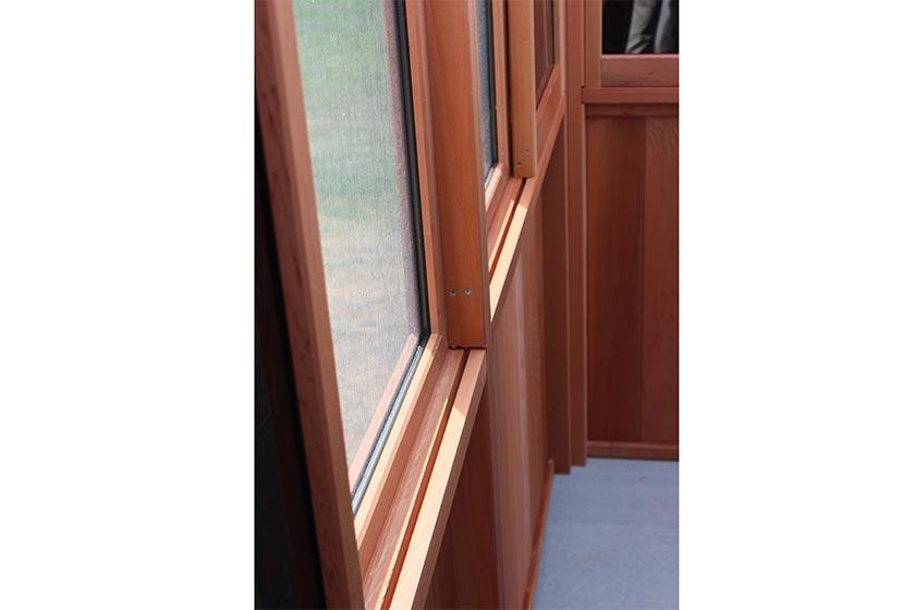 Gazebo Window Wall Solchalet - Spa Gazebo|Hot Tub Enclosure - Westview Manufacturing