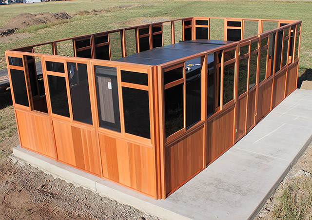 Walls and Doors Attached - Spa Gazebo|Hot Tub Enclosure - Westview Manufacturing
