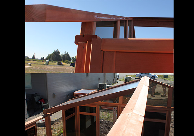 Roof Beam Assembled - Spa Gazebo|Hot Tub Enclosure - Westview Manufacturing