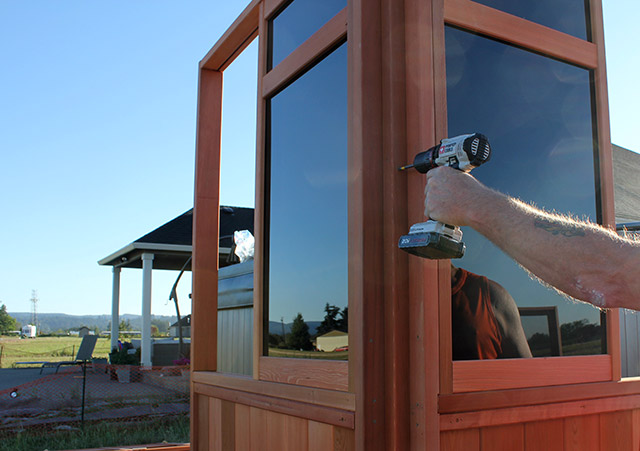 Attaching Corners - Spa Gazebo|Hot Tub Enclosure - Westview Manufacturing