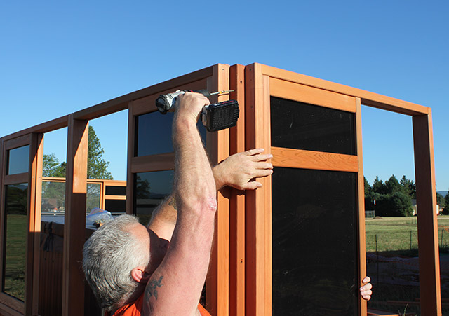 Attaching The Corners - Spa Gazebo|Hot Tub Enclosure - Westview Manufacturing