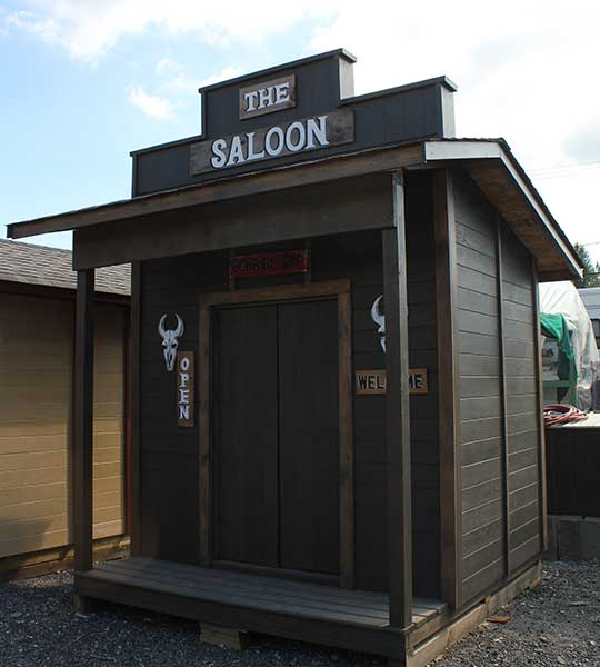 The Saloon cabin front