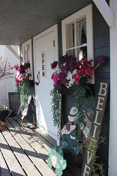 The Store cabin front door