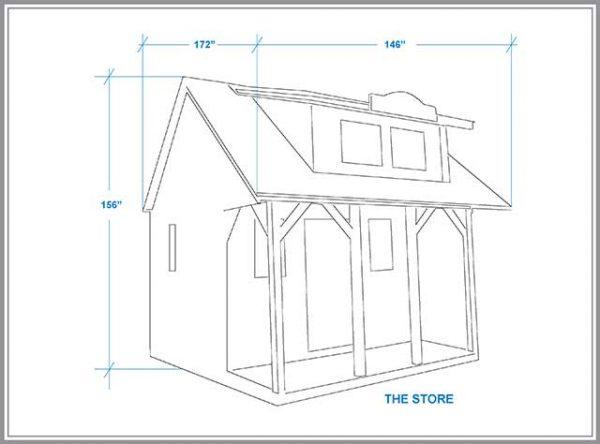 The Store cabin dimension