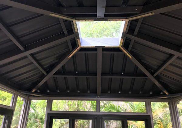 skylight roof of a gazebo