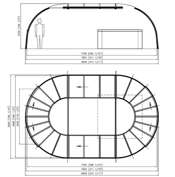 Grand sunhouse elevation drawing