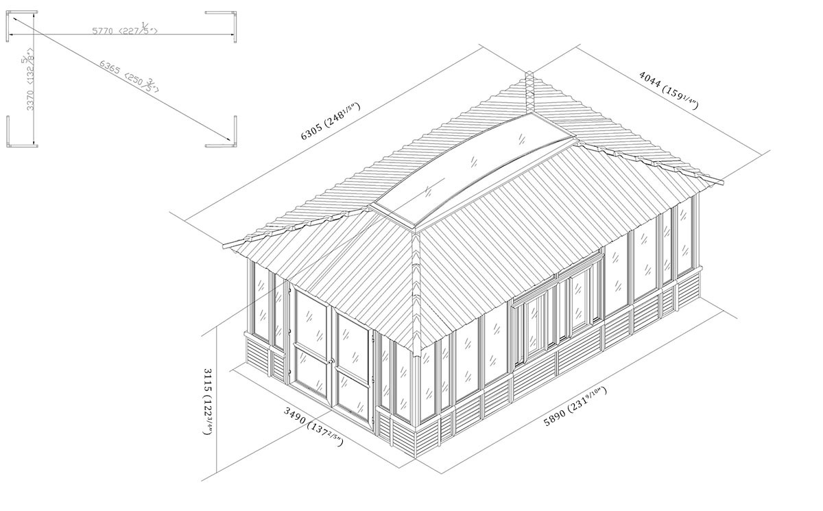 gazebo architectural drawing