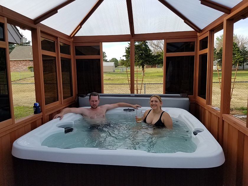 Romantic Design Ideas for Your Hot Tub Enclosure