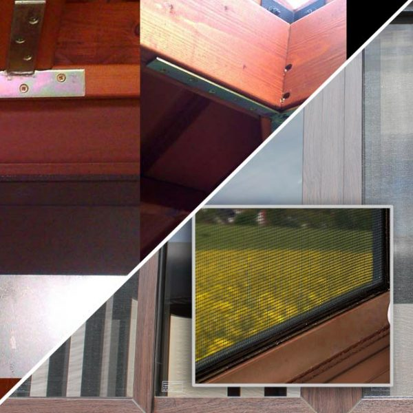 roof brackets and window screen photo collage