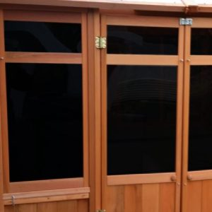 Cedar Black Privacy Window Upgrade